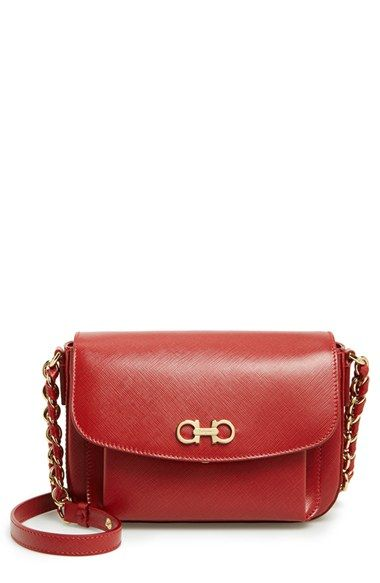 b392531bd7 Women s Salvatore Ferragamo  Sandrine  Leather Shoulder Bag - Red ...