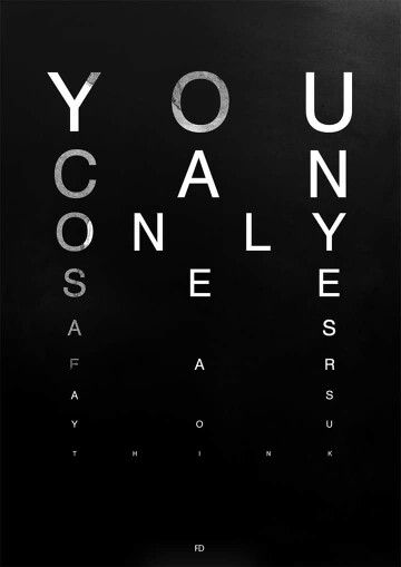 You can only see as far as u think !