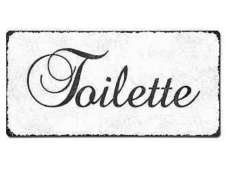 Blechschild Toilette - vintage look