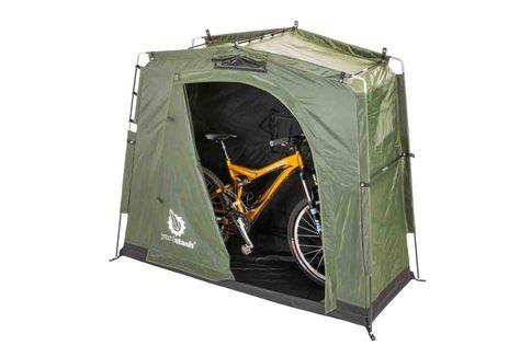 ALEKO Water Resistant Folding Pop-Up Bike Storage Tent 78 x 31 x 64 inch Green