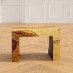Wrightstown Solid Wood Floor Shelf End Table With Storage Reviews Joss Main End Tables Solid Wood Flooring End Tables With Storage