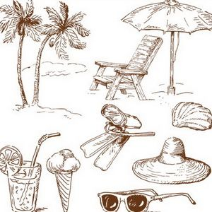 How to draw the beach step by step how to draw coconut tree 2jpg chair and beach umbrella doodle style altavistaventures Gallery
