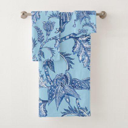 French Country Blue Bath Towel Set Zazzle Com Blue Bath Towels Blue Bath Towel Set