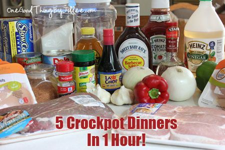Make 5 Slow Cooker Meals in 1 Hour