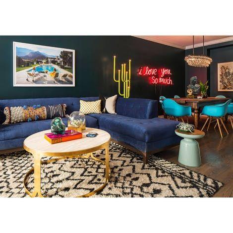 Decorative Round Pillows Custom Photo By Lauren Svenstrup Retro Living Rooms Rustic Living Room Family Room Design