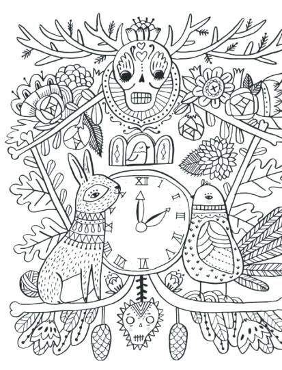 Folk Art Coloring Books : coloring, books, Trend, Mexican, Coloring, Pages, Pages,, Books,
