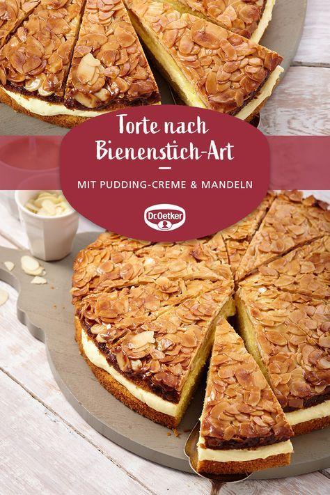 Torte Nach Bienenstich Art O 26 Cm Rezept Bienenstich Rezept Schneller Kuchen Mit Pudding Und Bienenstich