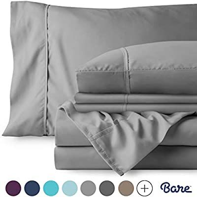 Amazon Com Bare Home 4 Piece 1800 Collection Deep Pocket Bed Sheet Set Twin Extra Long Ultra Soft Hypoallerge Sheet Sets Microfiber Bedding Bed Sheet Sets Twin xl deep pocket sheets