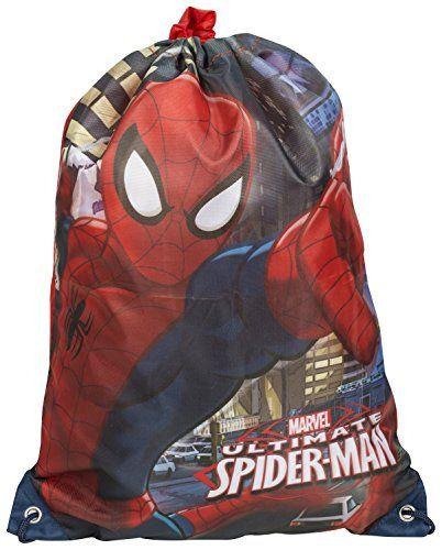 PE School Sports School gym spider man Spiderman Drawstring Bag Swimming