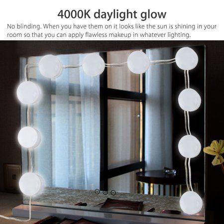 Tsv 10 Led Vanity Mirror Lights Kit, What Bulbs For Makeup Mirror