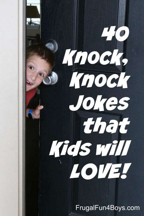 25 Hilarious Knock, Knock Jokes for Kids - Clean jokes that are funny! Mom Jokes, Funny Jokes For Kids, Toddler Jokes, Baby Jokes, Fun Quotes For Kids, Funny Jokes To Tell, Hilarious Jokes, Funny Memes, Fun Questions For Kids