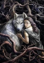 rAN89 - Soul Bond Card by Anne Stokes (Realms Cards) at Enchanted Jewelry & Gifts