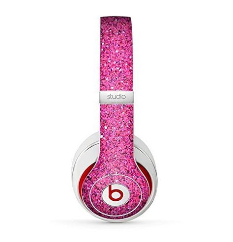 The Pink Sparkly Glitter Ultra Metallic Skin for the Beats by Dre Headphones (All Versions Available) Cute Headphones, Studio Headphones, Wireless Headphones, Sports Headphones, Bluetooth Speakers, Beats By Dre, Pink Sparkly, Purple Glitter, Cheap Beats