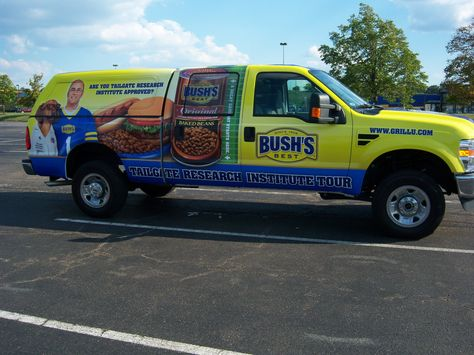 A cool wrap we did for Bush's Baked Beans for their East Coast NFL/Nascar Grill-off Tour.
