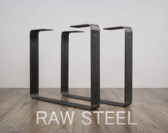 Set Of 2 Steel Bench Legs Steel Coffee Table Legs Metal Table