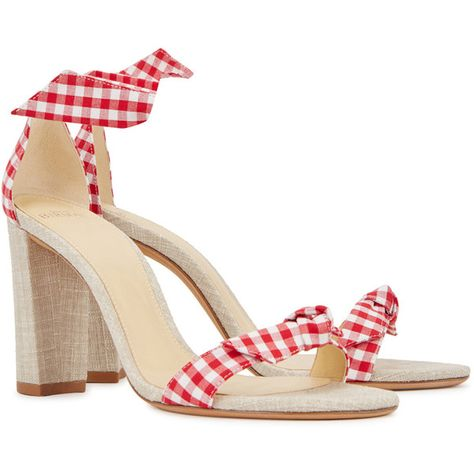 1970061b991 Alexandre Birman Clarita Gingham Canvas Sandals - Size 3 ( 430) ❤ liked on  Polyvore featuring shoes