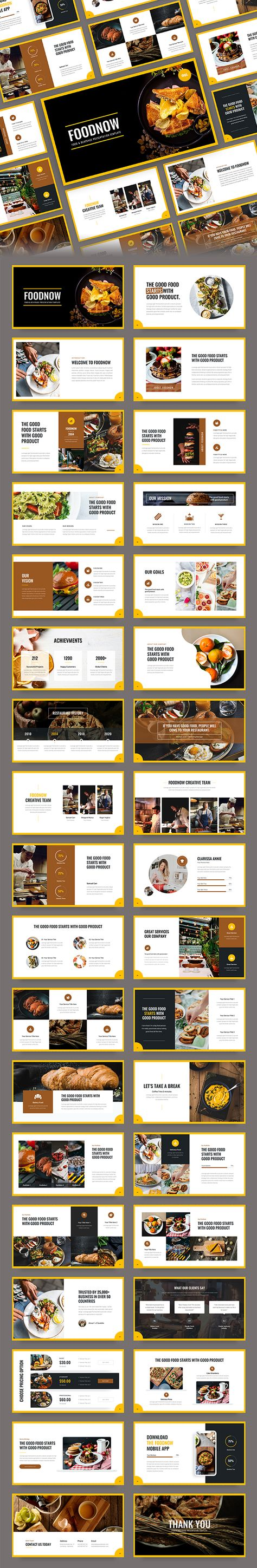 Foodnow - Food Google Slides Presentation Template