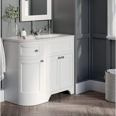 Butler Rose Catherine Traditional Floorstanding Vanity Unit With Belfast Sink Matt Grey Tap War Vanity Units Corner Vanity Unit Bathroom Furniture Vanity