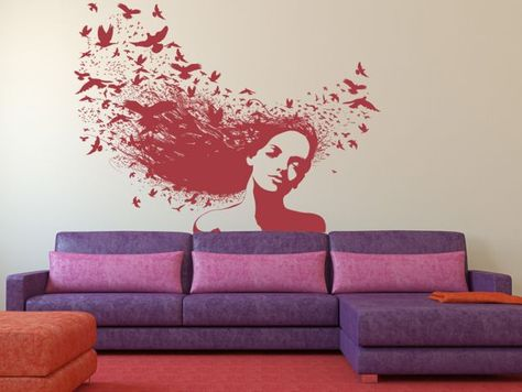 Splattered Stave Sticker Wall Decal Art Home Deco Vynil Living Room Bedroom Office decor Bar