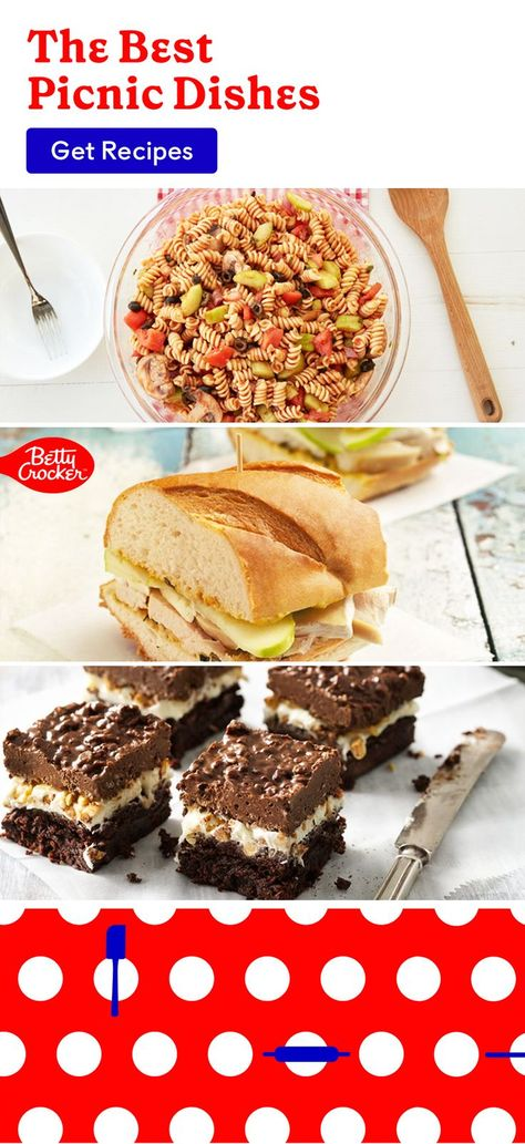 For The Best Picnic Dishes, we've got you covered with picnic foods, sandwiches, desserts and so much more. Pin today for your next picnic adventure!