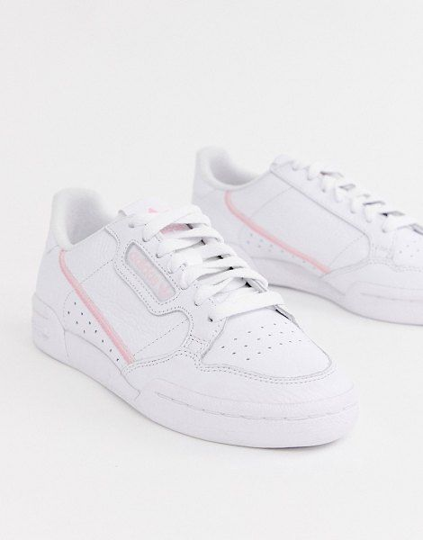 adidas Originals White And Pink Continental 80 Sneakers ...