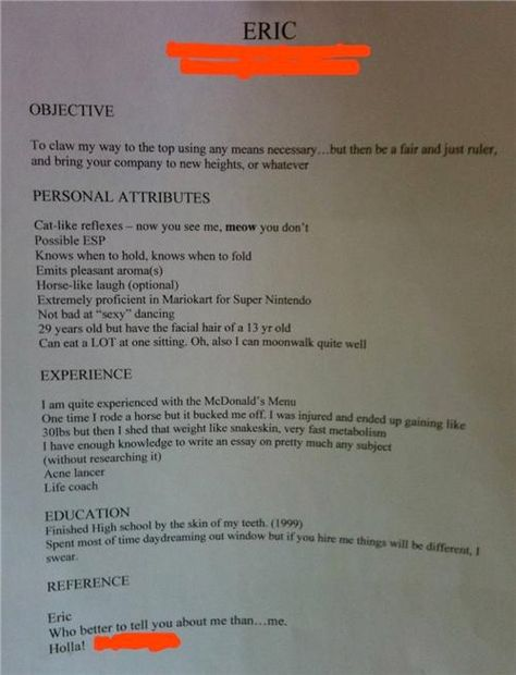 Best resume ever crap-that-makes-me-laugh funny Pinterest - the best resume ever