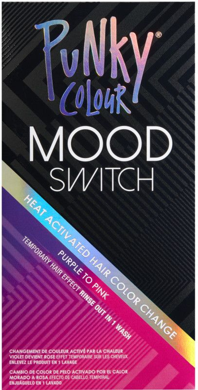 Punky Colour Mood Switch Is Heat Activated Temporary Hair Color With A Changing Effect Rinses Out Punky Color Temporary Hair Color Hair Color Shades