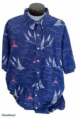 Sony Employee Uniform Embroidered Logo Long Sleeve Button Down Men/'s Shirt XL