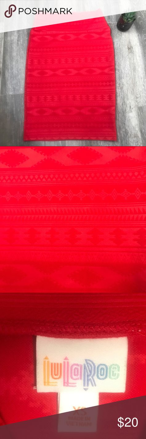 e5cbe4ec6 LuLaRoe Red Cassie Pencil Skirt Size XS - NWOT New without tags red LuLaRoe  Cassie Skirt