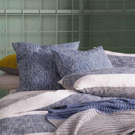Carina Navy Pillowcase Each By Kas Room