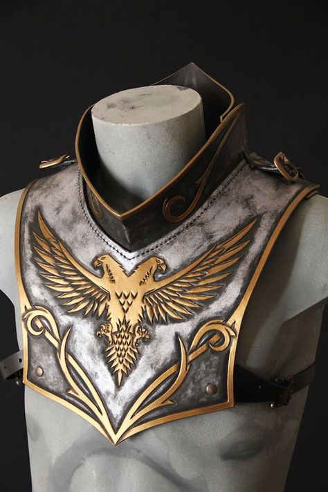 Paladyn leather gorget by ArtesulCuoio on Etsy