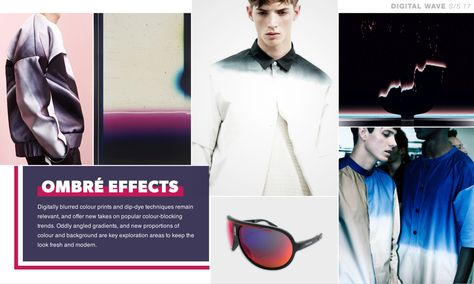 The Fashion Forecast Men & Young Men S/S 17 – Digital Wave  Ombre Effects