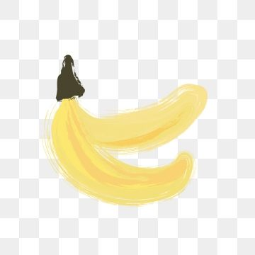 Hand Painted Banana Summer Fruit Hand Painted Simple Style Yellow Warm Color Two Bananas Png Transparent Clipart Image And Psd File For Free Download Summer Fruit Clip Art Warm Colors