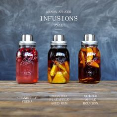 Shop this Recipe Mason Shaker Jigger Muddler Mason Shaker Fall Infusions Creating infused spirits in the Mason Shaker is a simple and tasty way to preserve some