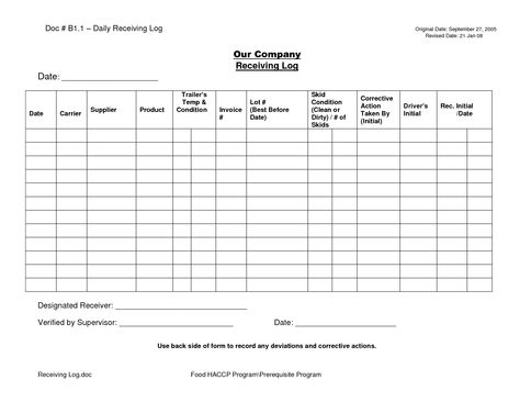 shipping and receiving log - Google Search Maintenance - maintenance checklist template