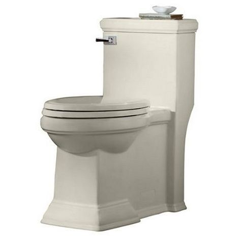 American Standard Linen Town Square Concealed Trapway Right Height Elongated 1 Piece Toilet American Standard Toilet Toilet Design