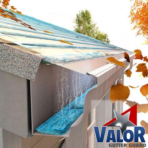Valor Gutter Guard Design Leaves Out Water Flowing Find A Dealer Near You Gutter Rain Valorgutterguard Home In 2020 House Exterior House Design Architecture