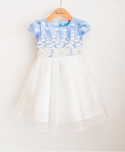Vestido de Festa Infantil em Organza e Cetim Azul   little him nd her    Pinterest   Baby Dress, Little princess and Baby 3c24fb5a79