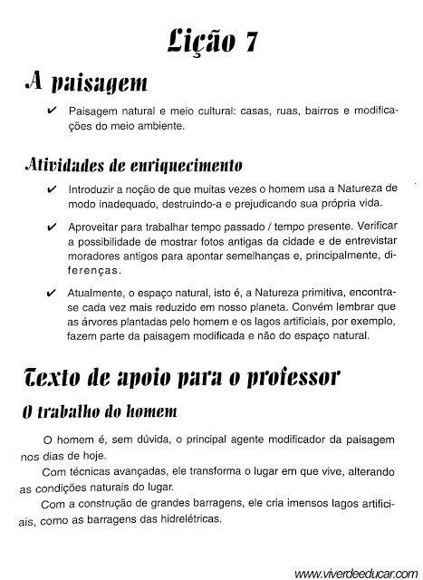 A Paisagem Introducao 1 Historia E Geografia Tipos De
