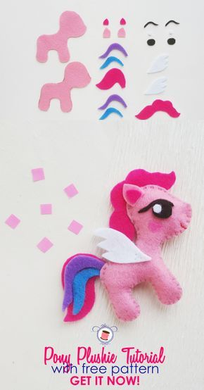 My Little Pony Sewing Pattern Free And Tutorial Sewing Stuffed