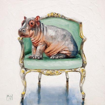 Hippo Painting Art