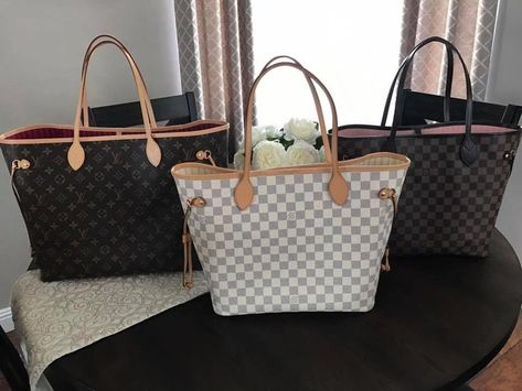 5c9033bef809 Louis Vuitton Neverfull Full Collection! Monogram (pivoine)