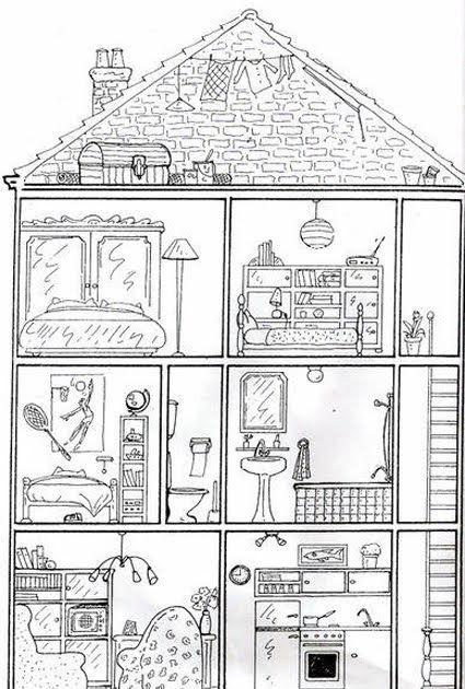 Ausmalbilder Haus Von Innen In 2020 Ideen Fur Das Klassenzimmer Ausmalen Unterrichten