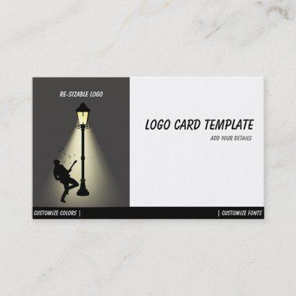 Playing Music Guitar Musicians Logo Business Card Zazzle Com Musician Logo Business Card Logo Music Guitar