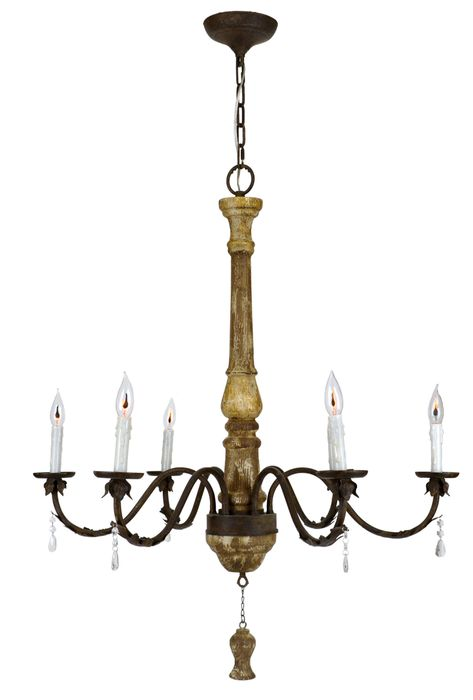 13 Mmd Chandelier Ideas, Catania Vintage French Country Wood 6 Light Chandelier