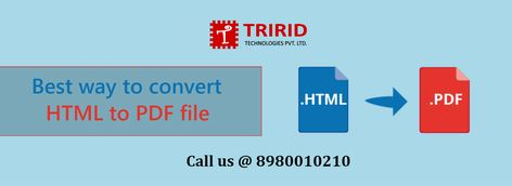 What Is The Best Way To Convert Html To Pdf File Tririd Com Web Application Development Mobile Application Development Web Application