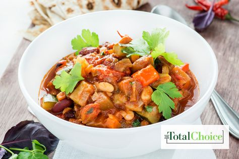 Total Choice Veggie Chili: This simple and satisfying comfort food is the perfect meal for a cold night. Eat this recipe on the Total Choice 1200-calorie...