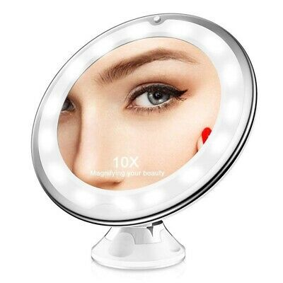 Details About 10x Magnifying Light Up Makeup Mirror Power Locking Suction Cup 360 Rotating Makeup Mirror With Lights Makeup Mirror Cosmetic Mirror