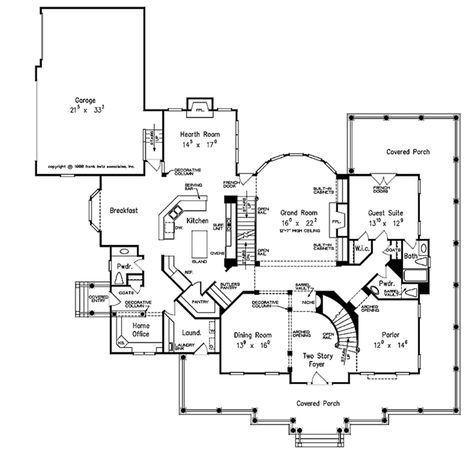 Country Style House Plan 5 Beds 5 5 Baths 5466 Sq Ft Plan 927 37 Country Style House Plans Farmhouse Floor Plans Floor Plans