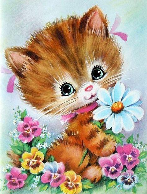 Sweet Kitty Cross Stitch Pattern PDF File